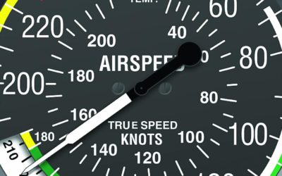 Why does true airspeed increase with altitude and temperature?